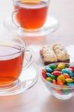 чашки шоколадов заморозили чай 2 Стоковая Фотография