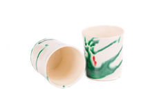 Чашки для кофе на белой предпосылке Стоковое Фото