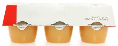 чашки applesauce стоковое фото rf