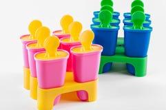 Чашки Popsicle Стоковое Изображение