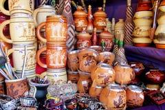 Чашки yerba сувенира штейновые и простые стоковые фотографии rf