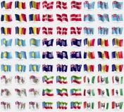 Чад, воинский заказ Мальта, Фиджи, Палау, Фолклендские острова, Андорра, великобританская антартическая территория, Экваториальна Стоковая Фотография