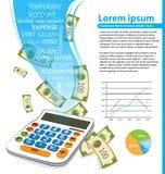 Чалькулятор и деньги Стоковое Изображение RF
