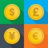 Чеканит вектор дизайна денег плоский Стоковые Фотографии RF