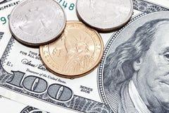 чеканит доллар сверх Стоковое фото RF