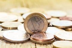 чеканит европейца валюты Стоковые Фото