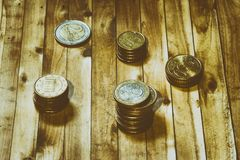 чеканит евро Стоковые Фотографии RF