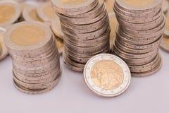 чеканит евро Стоковое Изображение RF