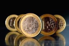 чеканит евро Стоковая Фотография