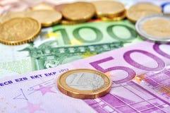 чеканит евро Стоковые Изображения RF