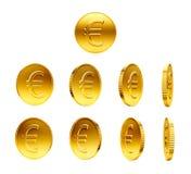чеканит знак золота евро Стоковые Фотографии RF
