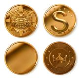 чеканит золотистое иконы иконы цвета картона установили вектор бирок 3 Стоковое Изображение