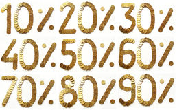 чеканит золотистый процент Стоковая Фотография