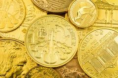 чеканит золотистый стог Стоковое Фото