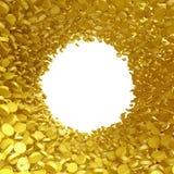чеканит золото евро доллара Стоковое Изображение