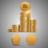 чеканит золото евро доллара Стоковые Фотографии RF
