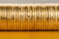 чеканит золото евро доллара Стоковые Изображения RF