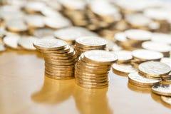 чеканит золото евро доллара Стоковое фото RF