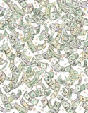 чеканит идти дождь дег долларов понижаясь Стоковое фото RF