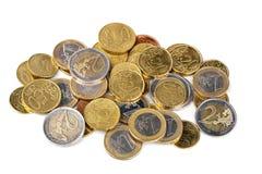 чеканит изолированное евро Стоковые Фото