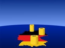 чеканит немца евро Стоковая Фотография RF