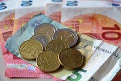чеканит примечания евро Стоковые Фотографии RF