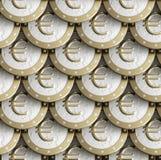 чеканит текстуру евро золотистую сделанную безшовную Стоковые Фотографии RF