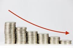 чеканит финансовохозяйственный вектор диаграммы Стоковое фото RF