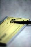 чеков чековый Стоковая Фотография