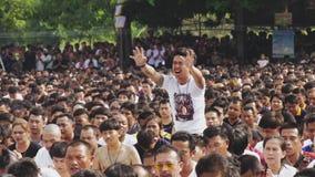 ЧЕЛКА PHRA WAT, ТАИЛАНД - МАРТ 2018: Преследованный участник во время фестиваля Sak Yant на монастыре Phra челки Wat