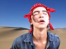 человека глаз bandana детеныши закрытого нося Стоковые Фотографии RF