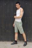 человека детеныши outdoors стоковое изображение