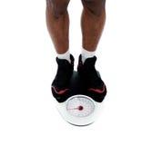 человека s ноги весить маштаба Стоковое Изображение RF