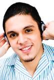 человек американских наушников латинский слушая к Стоковые Изображения RF