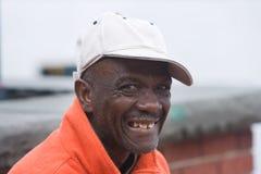 человек афроамериканца пожилой счастливый Стоковые Фото