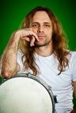 Человек барабанщика Стоковое Изображение RF