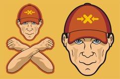 человек бейсбольной кепки головной Стоковая Фотография RF