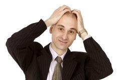 человек боли головной Стоковое фото RF