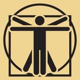 Человек вектора minimalistic vitruvian Стоковое фото RF