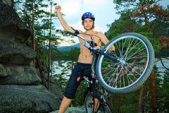 Человек велосипедиста Стоковое Изображение RF