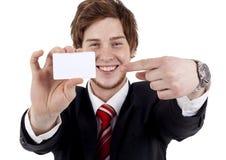 человек визитной карточки показывая белизну Стоковые Изображения RF