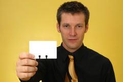 человек визитной карточки Стоковое Фото