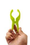 человек владением clothespin Стоковые Фотографии RF
