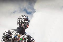 Человек в костюме, концепции защитника человечества Стоковые Фото