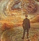 Человек в костюме мыслитель иллюстрация штока