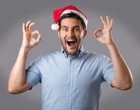 Человек в красной шляпе Стоковая Фотография