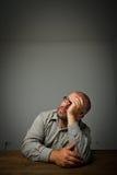 Человек в мыслях. Фантазер. стоковая фотография rf