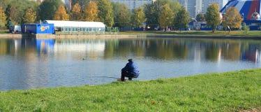 Человек в рыболовстве Стоковые Фото