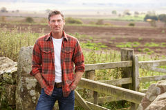 Человек в сельской местности Стоковые Фото