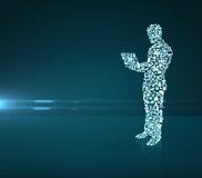 Человек в форме иконы средств Стоковые Фотографии RF